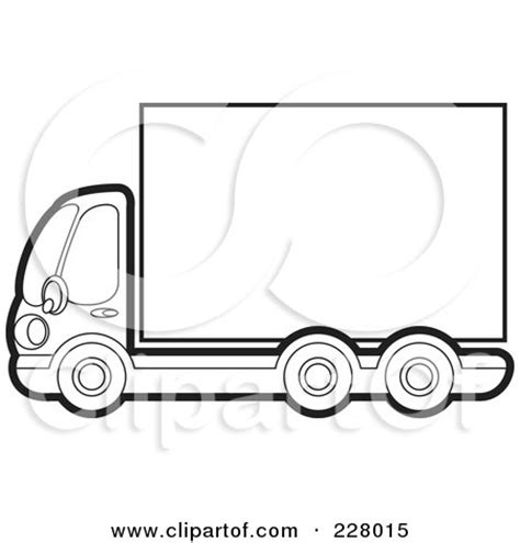 moving van coloring page clipart of a yellow moving truck royalty free vector
