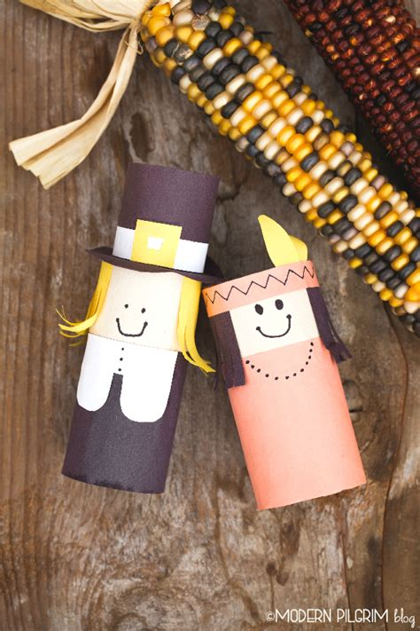 Indian Paper Crafts - pilgrim indian thanksgiving craft
