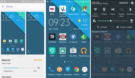 samsung themes photo galaxy s6 le th 232 me android stock disponible dans le