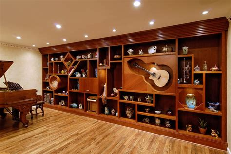 music room contemporary home office grand rapids dc metro full wall bookshelves living room eclectic with