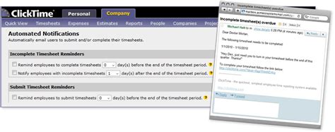 Automated Email Reminders To Employees Timesheet Completion Timesheet Email Template