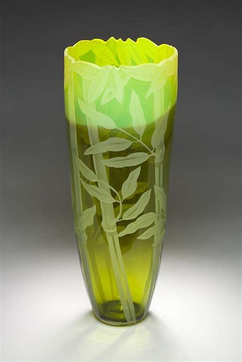 Bamboo Glass Vase by Bamboo Vase Glass Vase By Cynthia Myers
