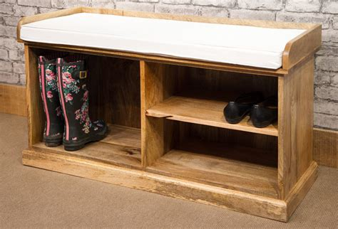 solid wood shoe storage bench solid natural mango wood shoe storage bench mantis range