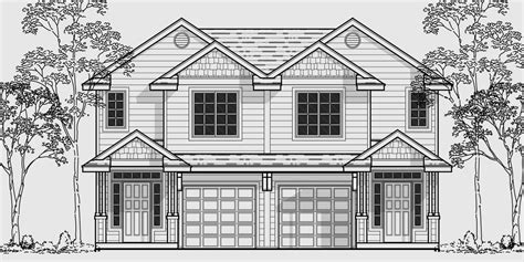 narrow lot duplex house plans narrow lot duplex house plans two story duplex house plans