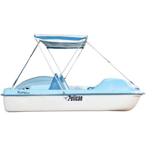 pelican inflatable boats pelican rainbow e dlx pedal boat yellow white 206273