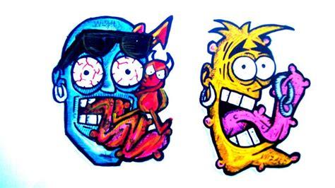 graffiti sticker characters