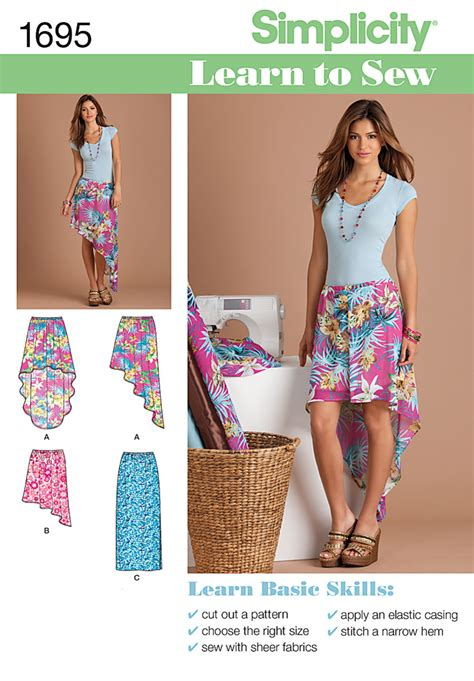 simplicity pattern website simplicity 1695 learn to sew misses pull on skirts