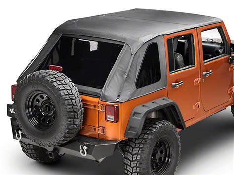 jeep frameless soft top barricade wrangler frameless 2 in 1 soft top black