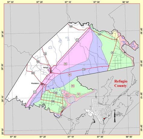 refugio texas map state level maps