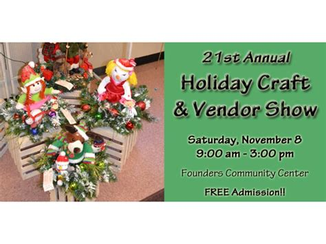 21st annual holiday craft vendor show frankfort park