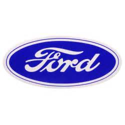 Ford Stickers 9 12 Quot Ford Script Sticker Blue On White Background