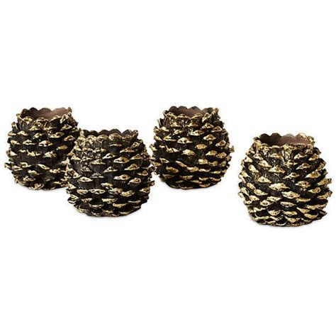 pine cone tea light holder 1000 ideas about gold votive candle holders on