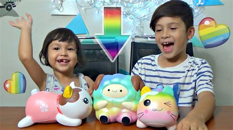 Squishy Rainbow Squishy Es Krim Squishy rainbow pop pop sheep new squishy package