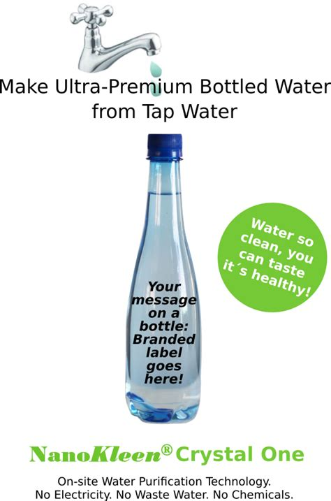 make your own water make your own bottled water nanokleen co za