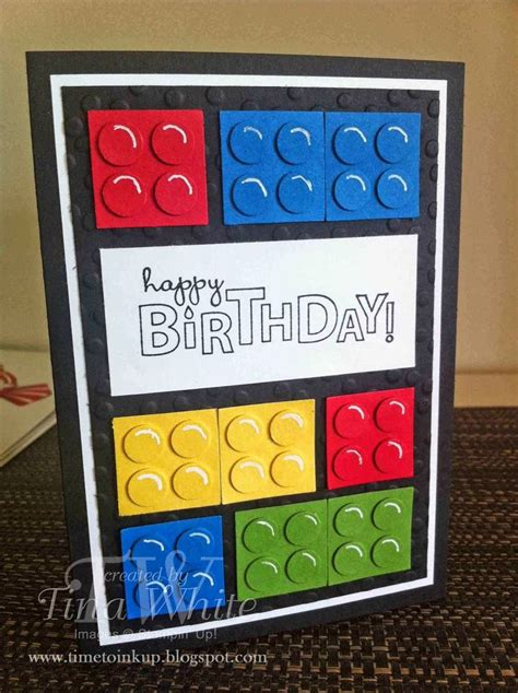 Lego Birthday Cards Lego Birthday Card Sting Pinterest