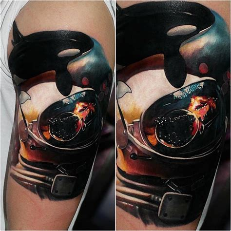killer whale astronaut space tattoo best tattoo ideas