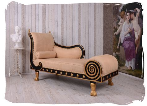 Ottomane Antik by Regency Recamiere Chaiselongue Alcantara Ottomane Sofa
