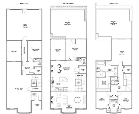 Philadelphia Row Home Floor Plan With Garage by Brownstone Row House Floor Plans