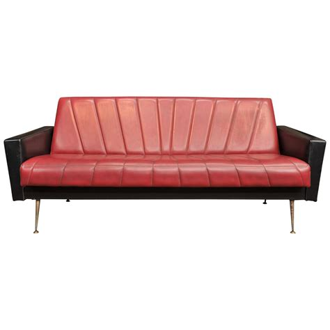 sixties sofa french vintage convertible sofa 1960s at 1stdibs