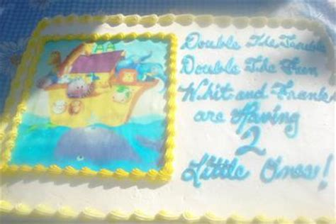 what to write on cake for baby shower noah s ark baby shower cake