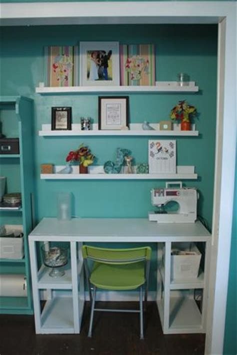 craft room in a closet thedailyme organization for the new year