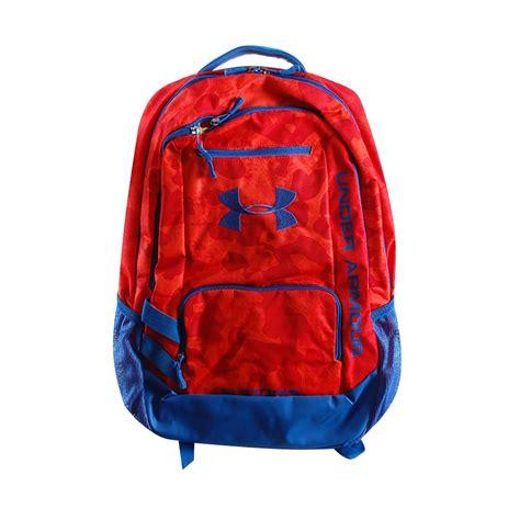 under armoir backpack under armour hustle backpack red