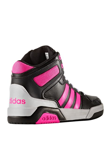 adidas 174 bb9tis mid sneakers toddler youth sizes black white pink kid s shoes