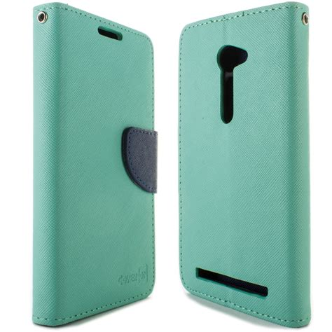 Lcd Asus Zenfone 4 By Java Cell tough wallet flip pouch phone cover and lcd screen