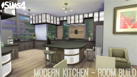 The Sims 4 Modern Kitchen Room Build   YouTube