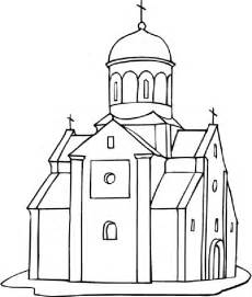 church coloring pages temple churches basilicas cathedrals and stained glass