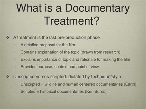writing a treatment writing a documentary treatment