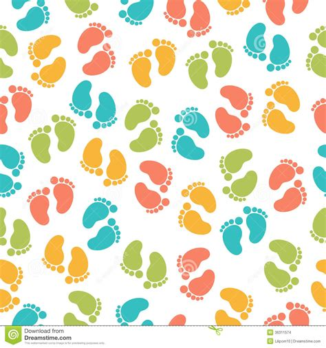 pattern design website seamless pattern with baby footprint stock images image