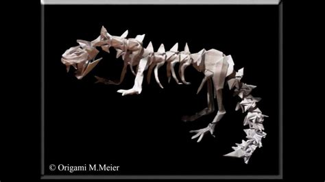 origami dinosaur skeleton