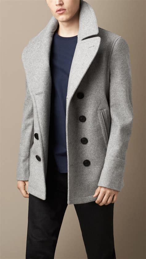 light grey peacoat mens light grey mens pea coat han coats