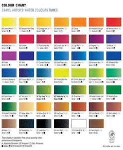 color shades artist water colours camel artist water colours