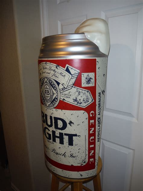 big can of bud light large bud light beer can display collectors weekly