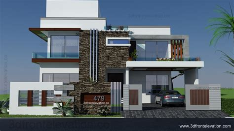 home design 3d elevation 3d front elevation com 500 square yards house plan 3d
