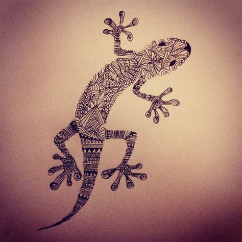 salamander tattoo designs aztec print salamander drawing i made texture zentangle