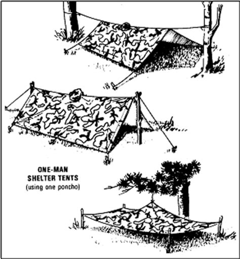 bambus bad 1168 field manual exles of poncho shelters