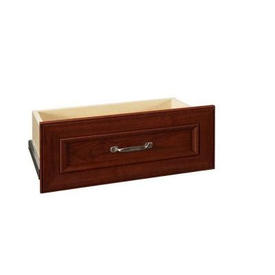 Closetmaid Single Drawer Closetmaid Impressions 25 In Cherry Wide Drawer Kit