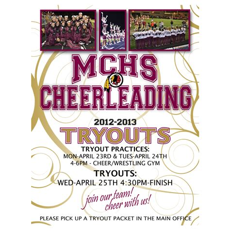 Cheerleading Quotes For Flyers Quotesgram Free Cheerleading Tryout Flyer Template