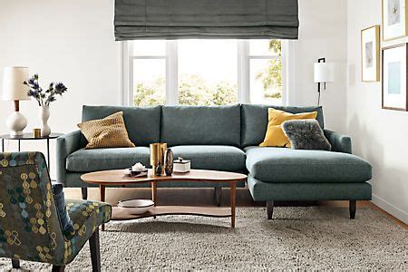 narrow profile sofa jasper sofas with chaise furniture modern living rooms and modern living room furniture