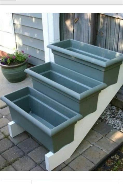 stair riser planters paint the planters use for herb