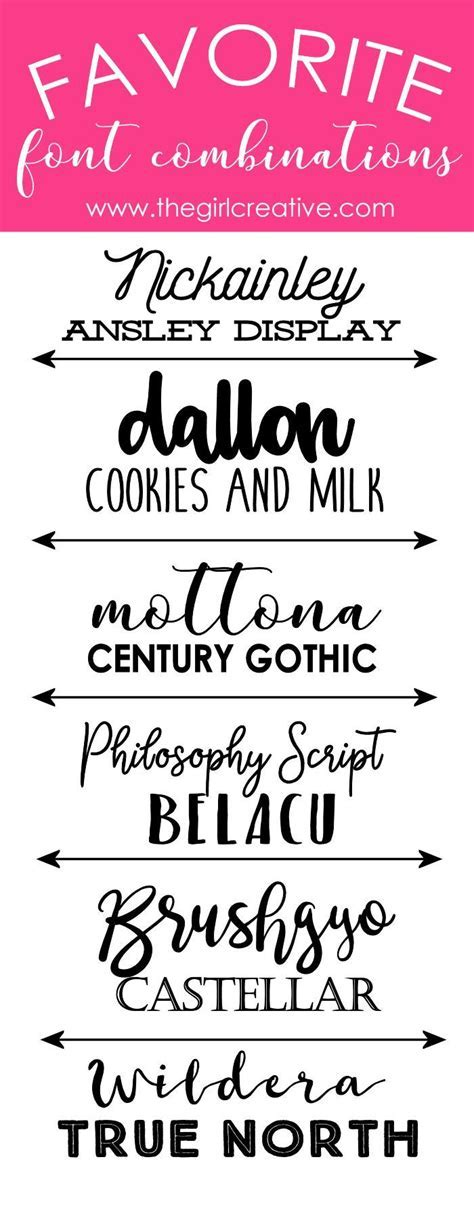 Best 25  Font pairings ideas on Pinterest   Font