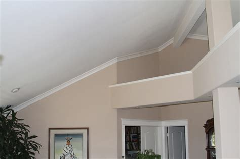 Vaulted Ceiling Crown Moulding by Moulding Installation Bedroom San Diego