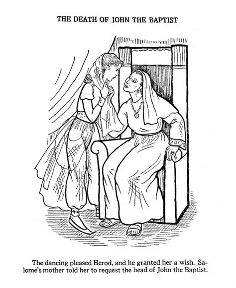 17 Best Images About Pictures To Color On Pinterest The Baptist Coloring Pages