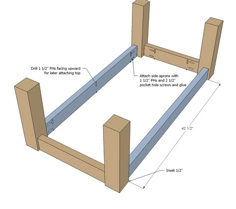 how to build a base for an apron front sink white updated tryde coffee table pocket holes