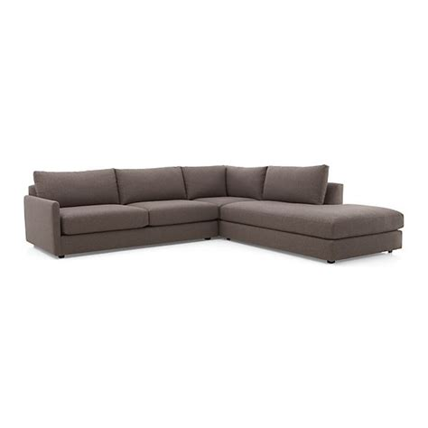 3 sectional sofa gravel crate and barrel