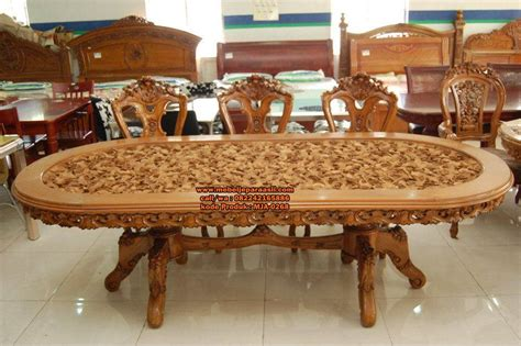 Meja Makan Ukiran Jepara set meja makan ukiran 3d jepara mebel jati jepara asli