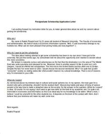 scholarship application letters 8 free word pdf documents free premium templates